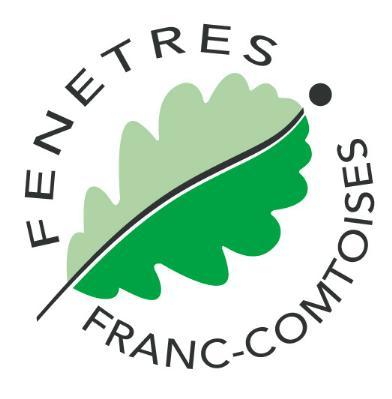 Cette image est le logo de l'entreprise Fenetres Franc Comtoises